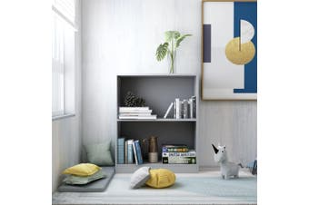 Bookshelf Grey 60x24x74.5 cm Chipboard