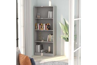4-Tier Book Cabinet Grey 60x24x142 cm Chipboard
