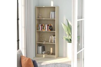 4-Tier Book Cabinet Sonoma Oak 60x24x142 cm Chipboard