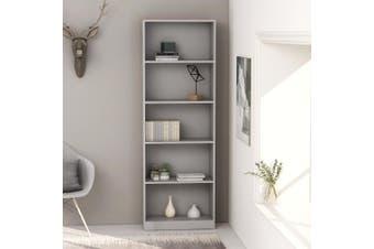5-Tier Book Cabinet Grey 60x24x175 cm Chipboard