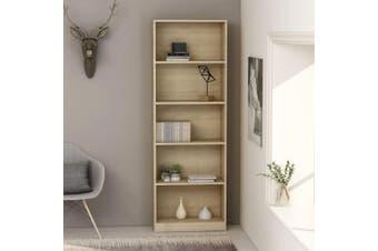 5-Tier Book Cabinet Sonoma Oak 60x24x175 cm Chipboard