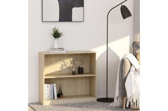 Bookshelf Sonoma Oak 80x24x75 cm Chipboard