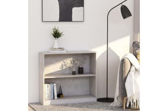 Bookshelf Concrete Grey 80x24x75 cm Chipboard
