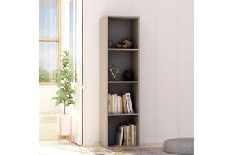 Book Cabinet Grey 40x30x151.5 cm Chipboard