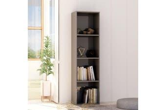 Book Cabinet High Gloss Grey 40x30x151,5 cm Chipboard