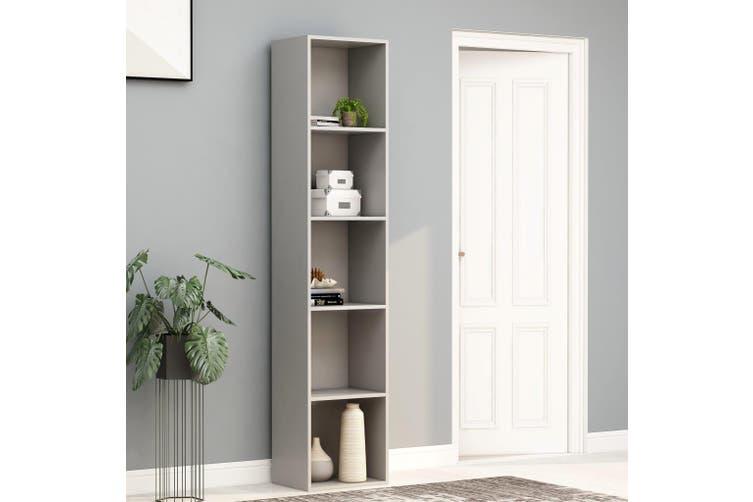Book Cabinet Grey 40x30x189 cm Chipboard
