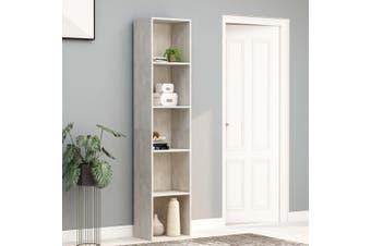 Book Cabinet Concrete Grey 40x30x189 cm Chipboard