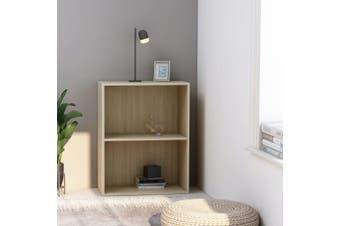 2-Tier Book Cabinet Sonoma Oak 60x30x76.5 cm Chipboard