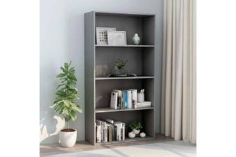 4-Tier Book Cabinet Grey 80x30x151.5 cm Chipboard