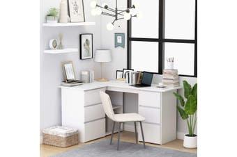 Corner Desk White 145x100x76 cm Chipboard