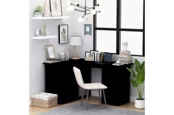 Corner Desk Black 145x100x76 cm Chipboard