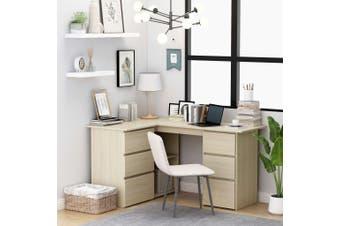 Corner Desk Sonoma Oak 145x100x76 cm Chipboard