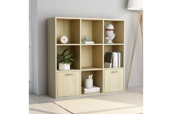 Book Cabinet Sonoma Oak 98x30x98 cm Chipboard
