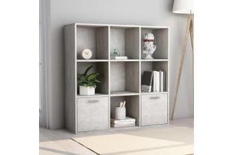 Book Cabinet Concrete Grey 98x30x98 cm Chipboard