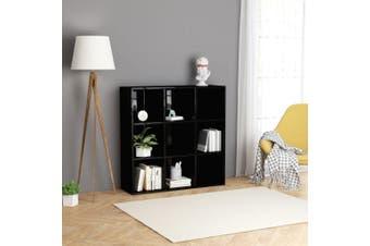 Book Cabinet High Gloss Black 98x30x98 cm Chipboard