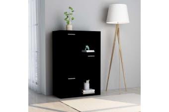 Storage Cabinet Balck 60x29.5x90 cm Chipboard