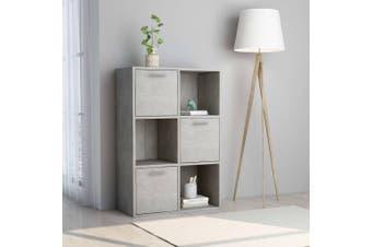 Storage Cabinet Concrete Grey 60x29.5x90 cm Chipboard