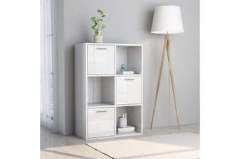 Storage Cabinet High Gloss White 60x29.5x90 cm Chipboard