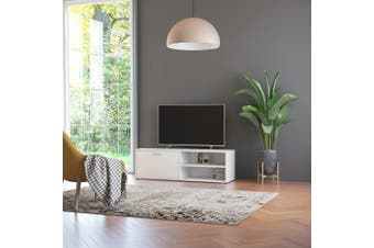 TV Cabinet White 120x34x37 cm Chipboard