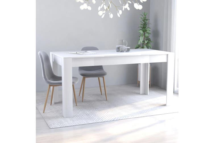Dining Table White 160x80x76 cm Chipboard