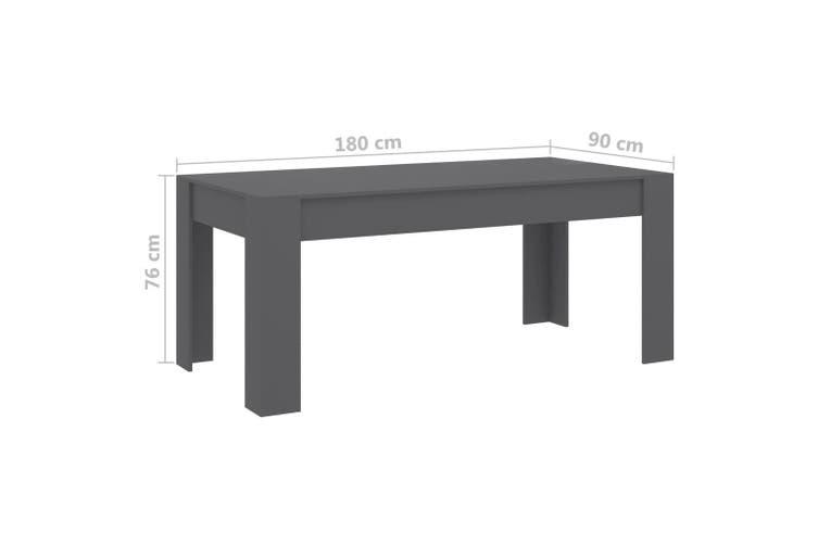 Dining Table Grey 180x90x76 cm Chipboard
