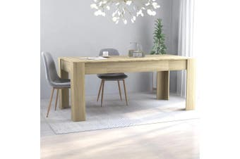 Dining Table Sonoma Oak 180x90x76 cm Chipboard
