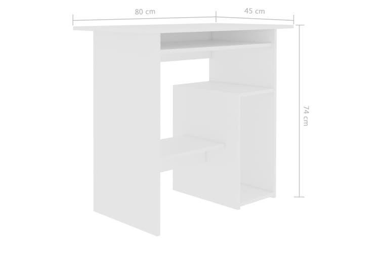Desk White 80x45x74 cm Chipboard