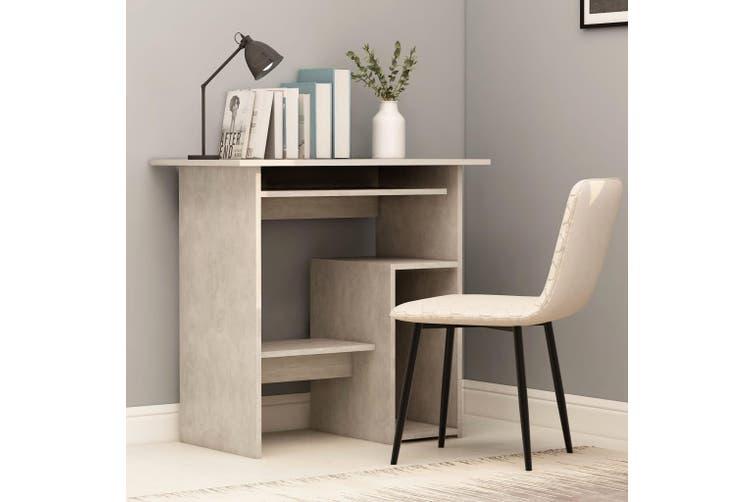 Desk Concrete Grey 80x45x74 cm Chipboard