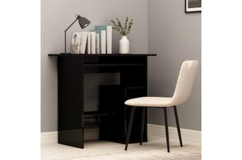Desk High Gloss Black 80x45x74 cm Chipboard