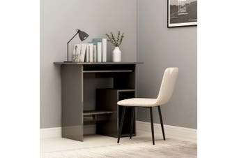 Desk High Gloss Grey 80x45x74 cm Chipboard