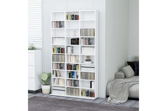 CD Cabinet White 102x16x177,5 cm Chipboard