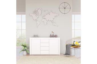 Sideboard High Gloss White 120x36x69 cm Chipboard