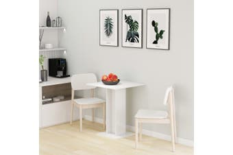 Bistro Table High Gloss White 60x60x75 cm Chipboard