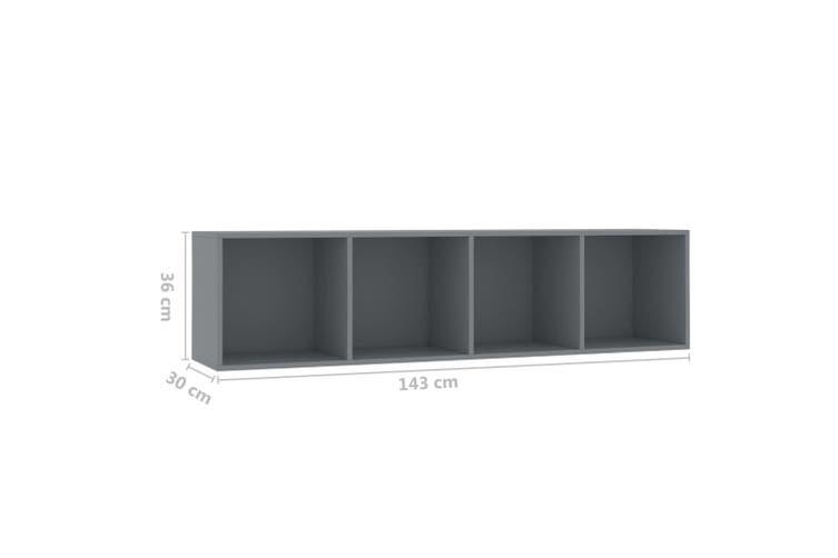 Book Cabinet/TV Cabinet Grey 143x30x36 cm