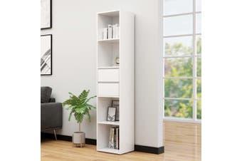 Book Cabinet High Gloss White 36x30x171 cm Chipboard