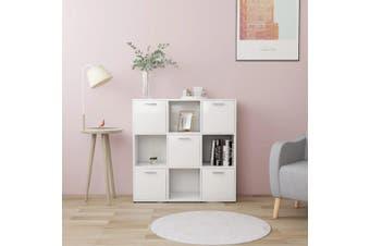 Book Cabinet White 90x30x90 cm Chipboard
