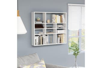 Wall Shelf White 90x16x78 cm Chipboard