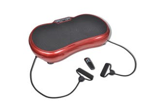 Fitness Vibration Plate Small 200 W with Belts Red