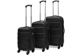 Three Piece Hardcase Trolley Set Black