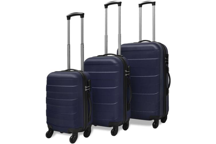 Three Piece Hardcase Trolley Set Blue