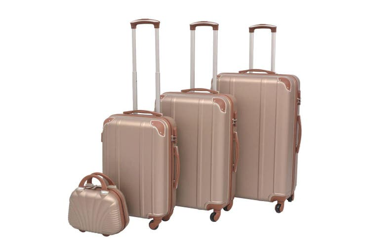 Four Piece Hardcase Trolley Set Champagne