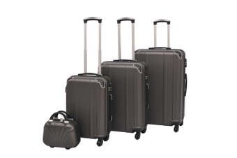 Four Piece Hardcase Trolley Set Anthracite