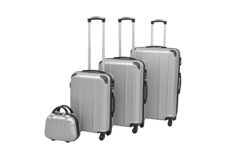 Four Piece Hardcase Trolley Set Silver