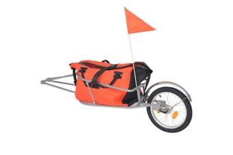 Bike Luggage Trailer with Bag Orange and Black