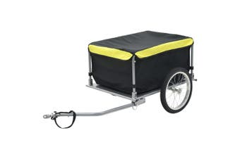 Bike Cargo Trailer Black and Yellow 65 kg
