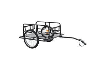 Bike Cargo Trailer 130x73x48.5 cm Steel Black