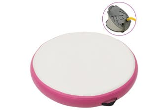 Inflatable Gymnastic Mat with Pump 100x100x10 cm PVC Pink