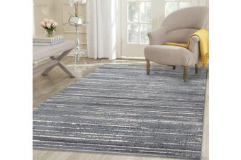 AquaSilk Grey Stripes Silk Design Rug