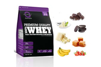 1KG - WHEY PROTEIN ISOLATE / CONCENTRATE - WPI WPC POWDER- Choose Flavour - Cookies&Cream / Yes