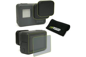 Wasabi Power Accessory Bundle-Screen Protector, Lens Cap for GoPro HERO7/HERO6/5